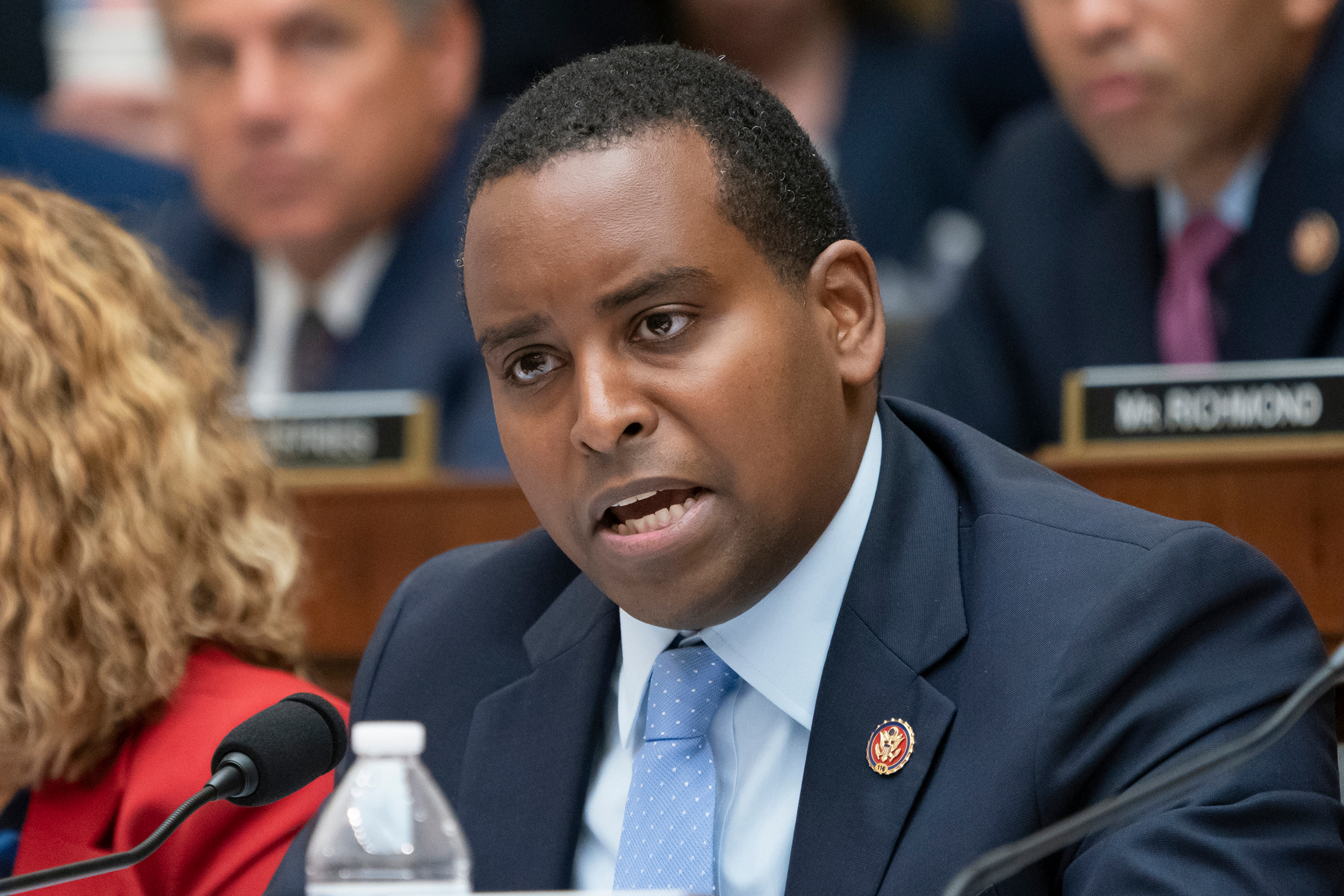 This Wednesday, July 24, 2019 file photo shows Rep. Joe Neguse, D-Colo., at a House Judiciary Committee hearing. Neguse is among Congressional Democrats who are questioning a Trump administration official's commitment to public lands and his attitude toward Native Americans. William Perry Pendley, the acting director of the U.S. Bureau of Land Management, was asked Tuesday by the House Committee on Natural Resources about his past advocacy for selling public lands and comments he allegedly made about Native Americans.