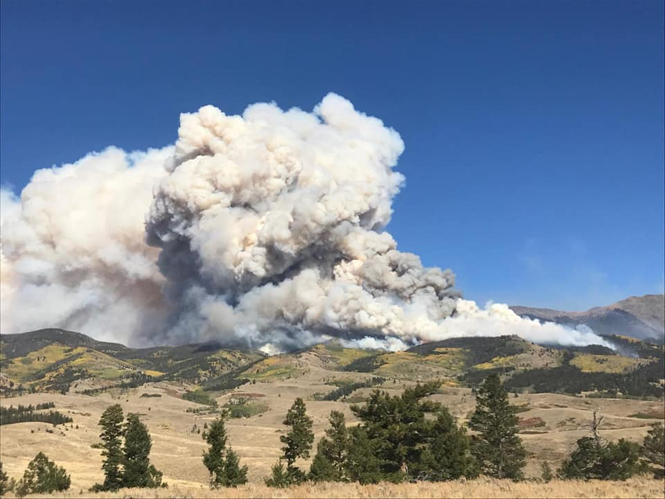 The Decker Fire burns near Salida, Colo.