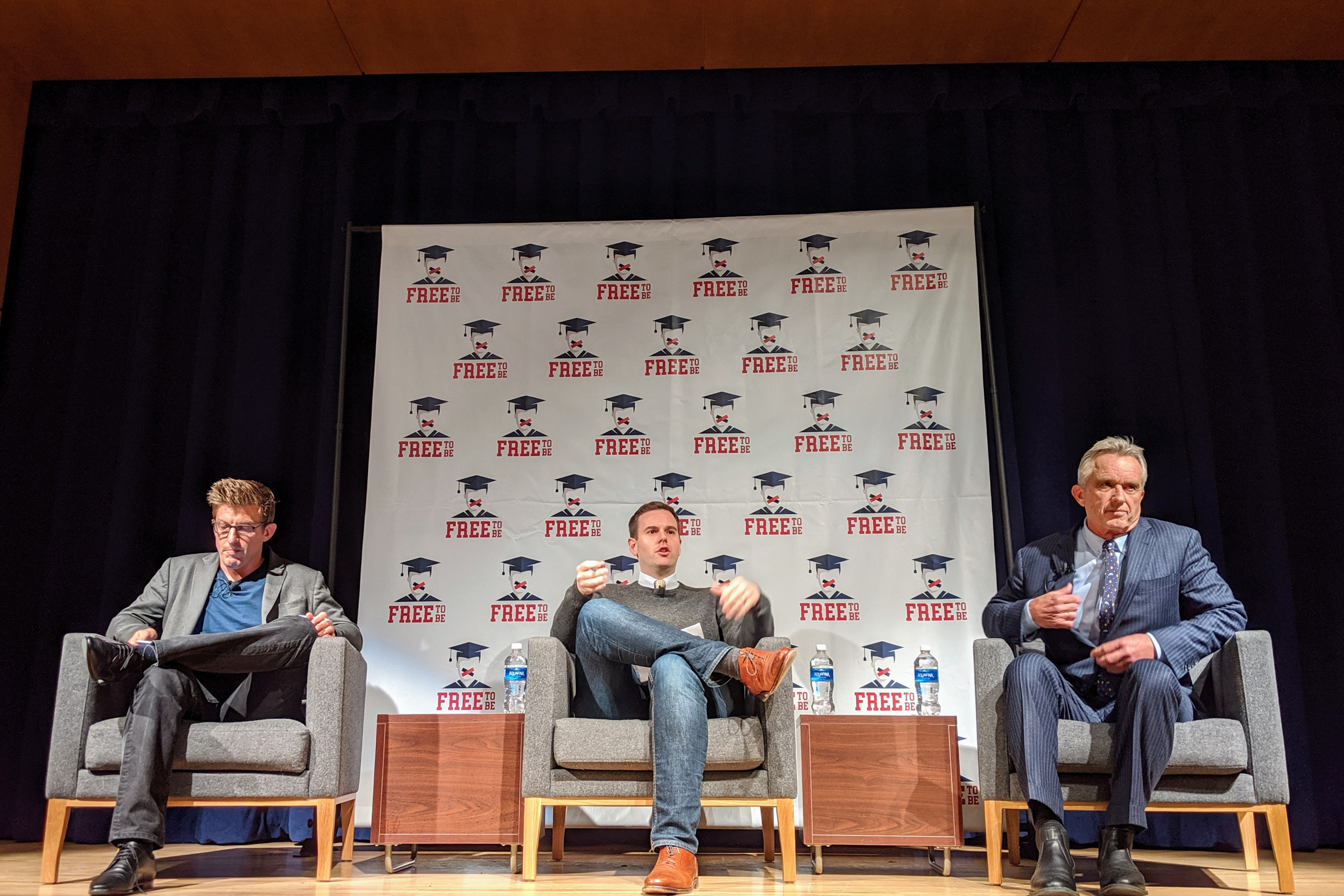 Alex Epstein debates climate change with Robert F. Kennedy Jr. at the University of Colorado Boulder.
