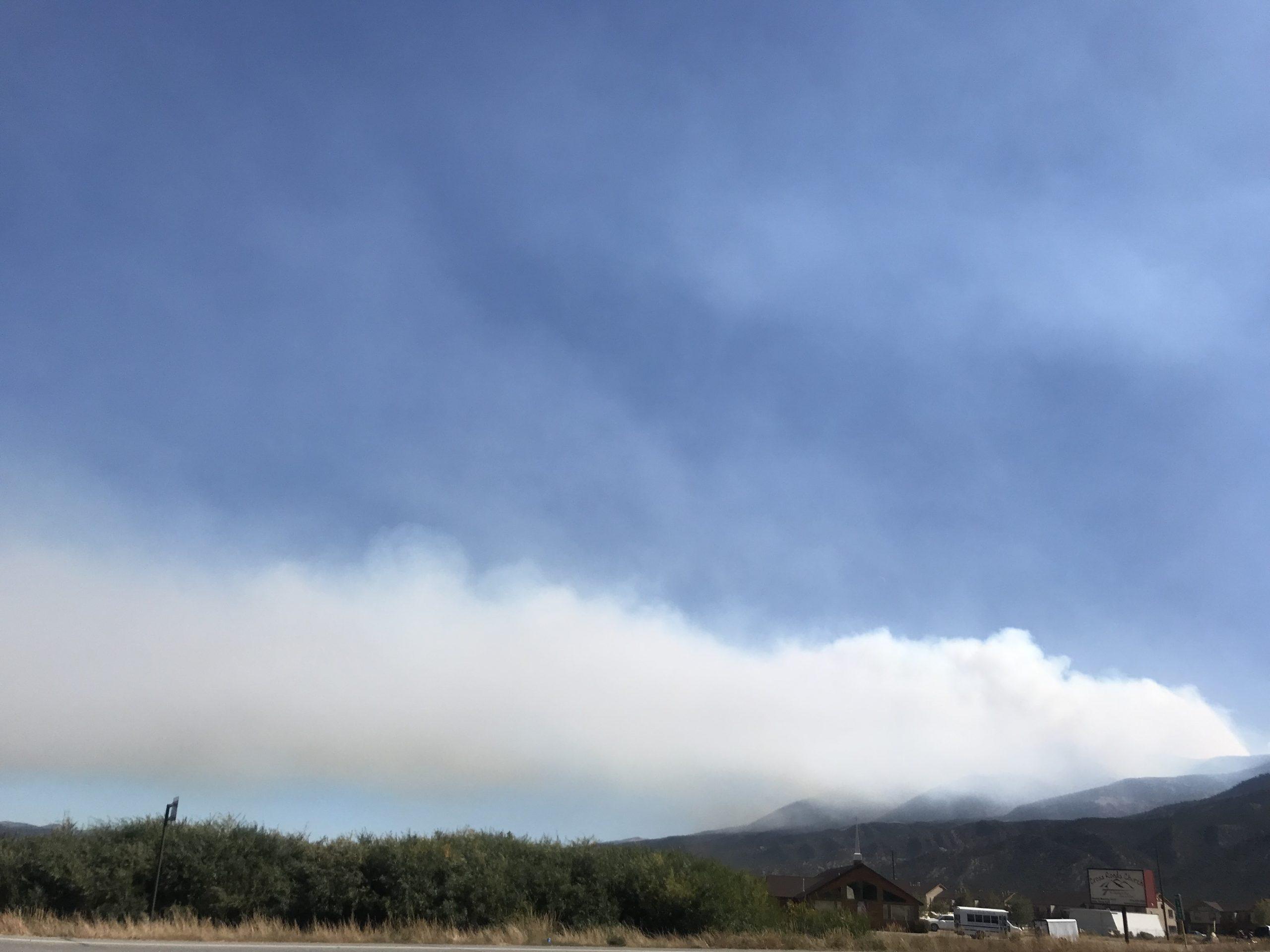 Smoke from the fire. Photo taken Thursday, October 3, 2019 near Nathrop, Colo.