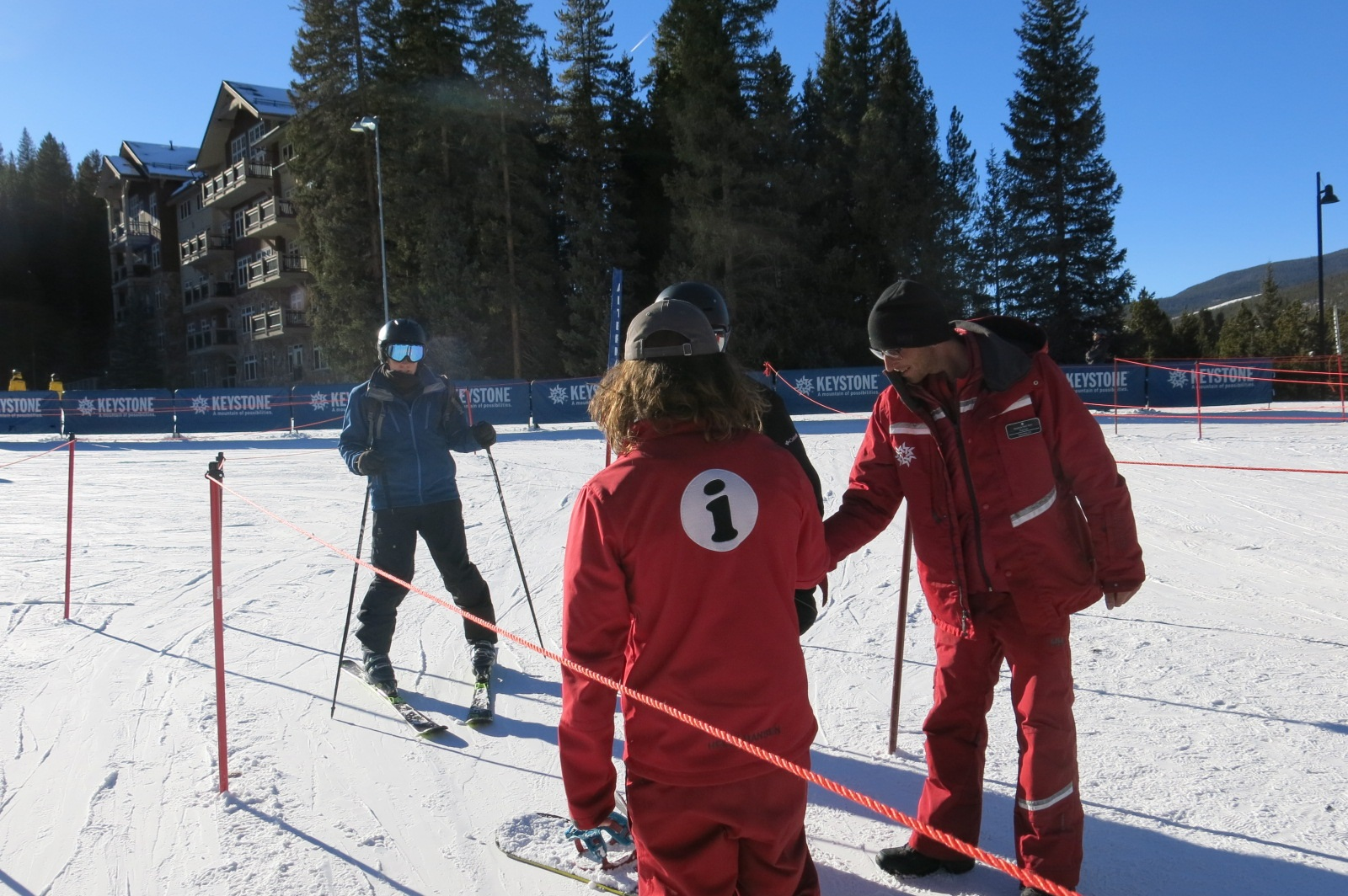 A skier lines up to have his pass scanned at Keystone, part of Vail Resorts. Last season, the multinational company reported spending $2.4 million on energy efficient equipment, including snow guns.