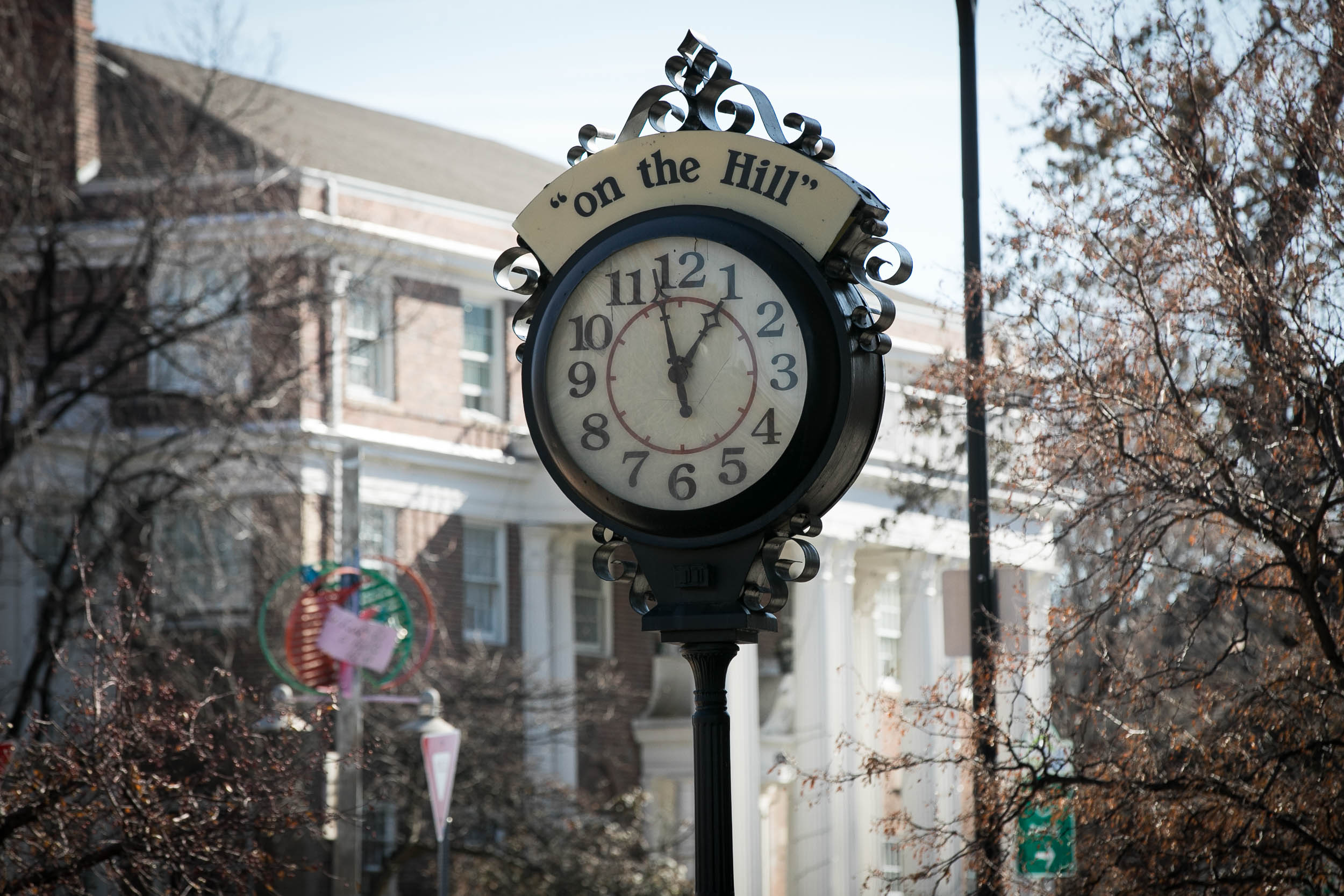 The clock on The Hill in Boulder