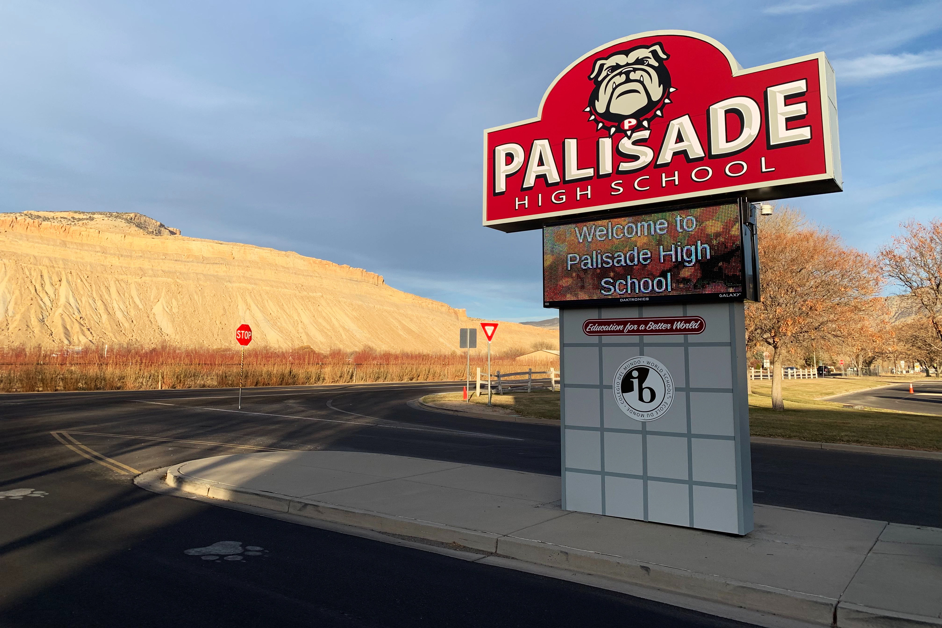 Palisade High School, the first school in Mesa County to close due to the unknown, norovirus-like illness.