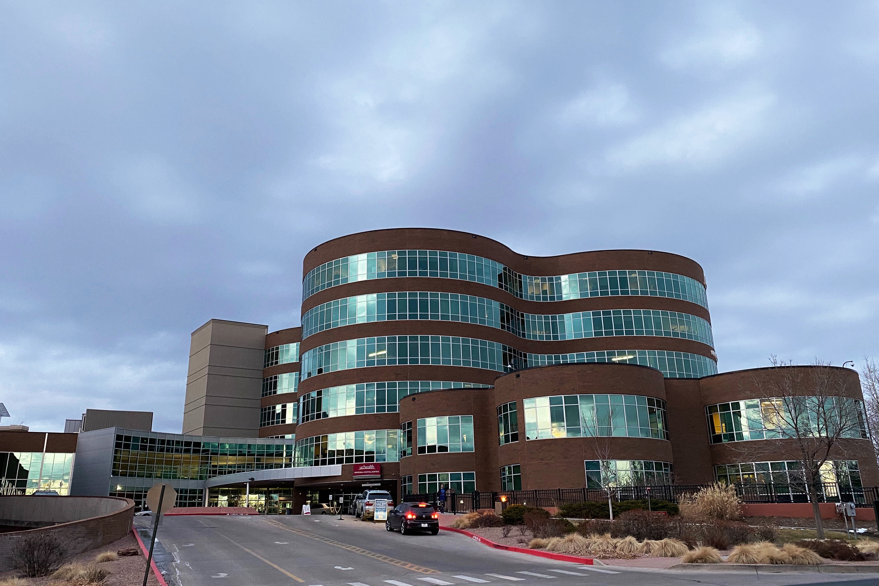 UCHealth Memorial Hospital Central in Colorado Springs shortly after a temporary lockdown on Monday, Nov. 25, 2019.