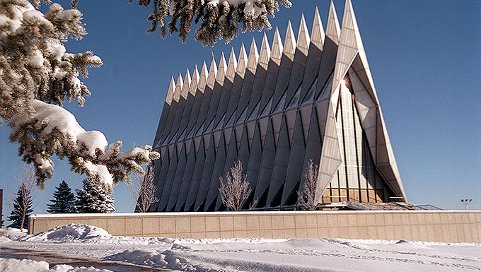 The chapel at the Air Force Academy. File photo.