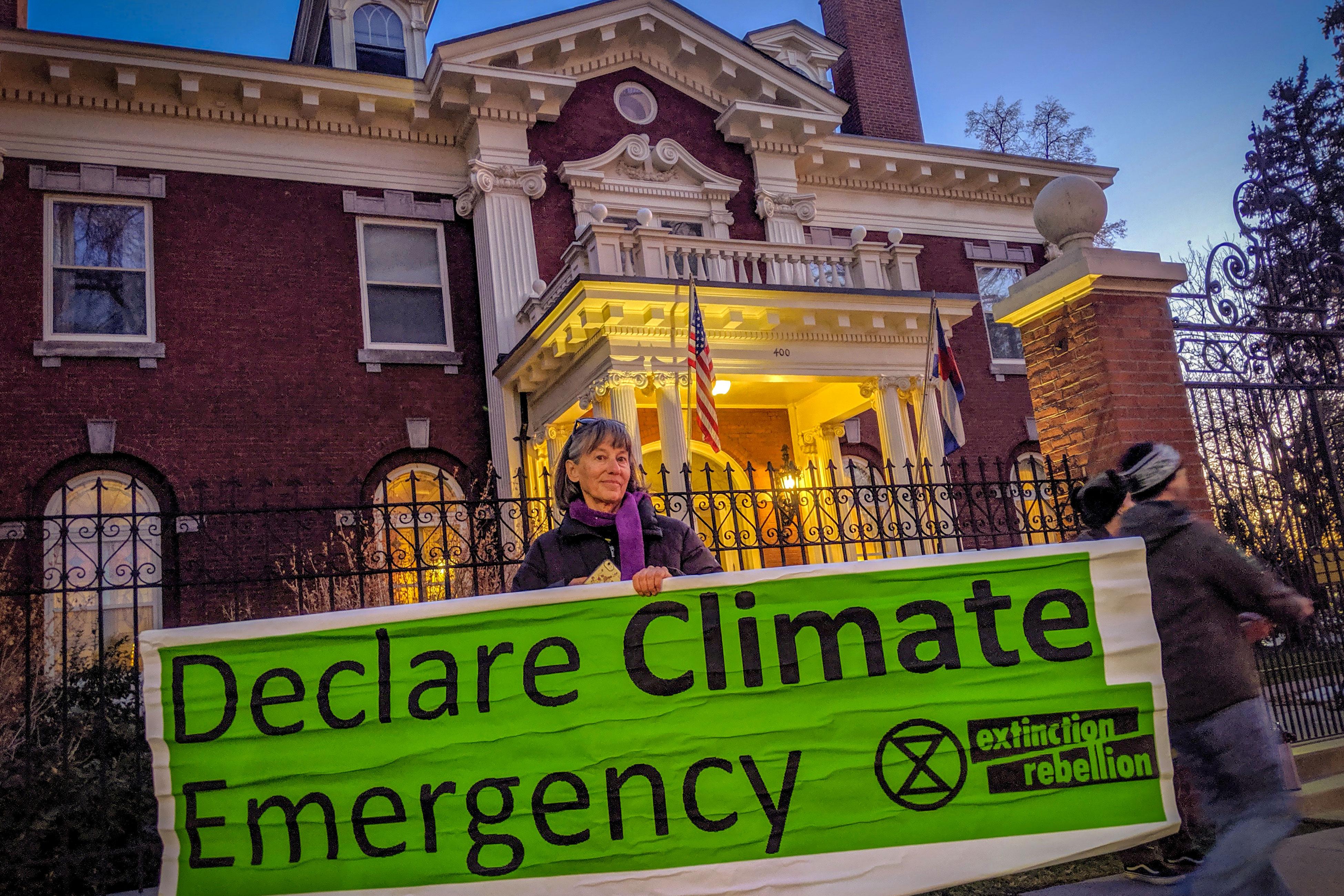 Dana Miller, an environmental activist in Denver, helped organize the disruption inside the Colorado's Governor's Residence., Nov. 7, 2019