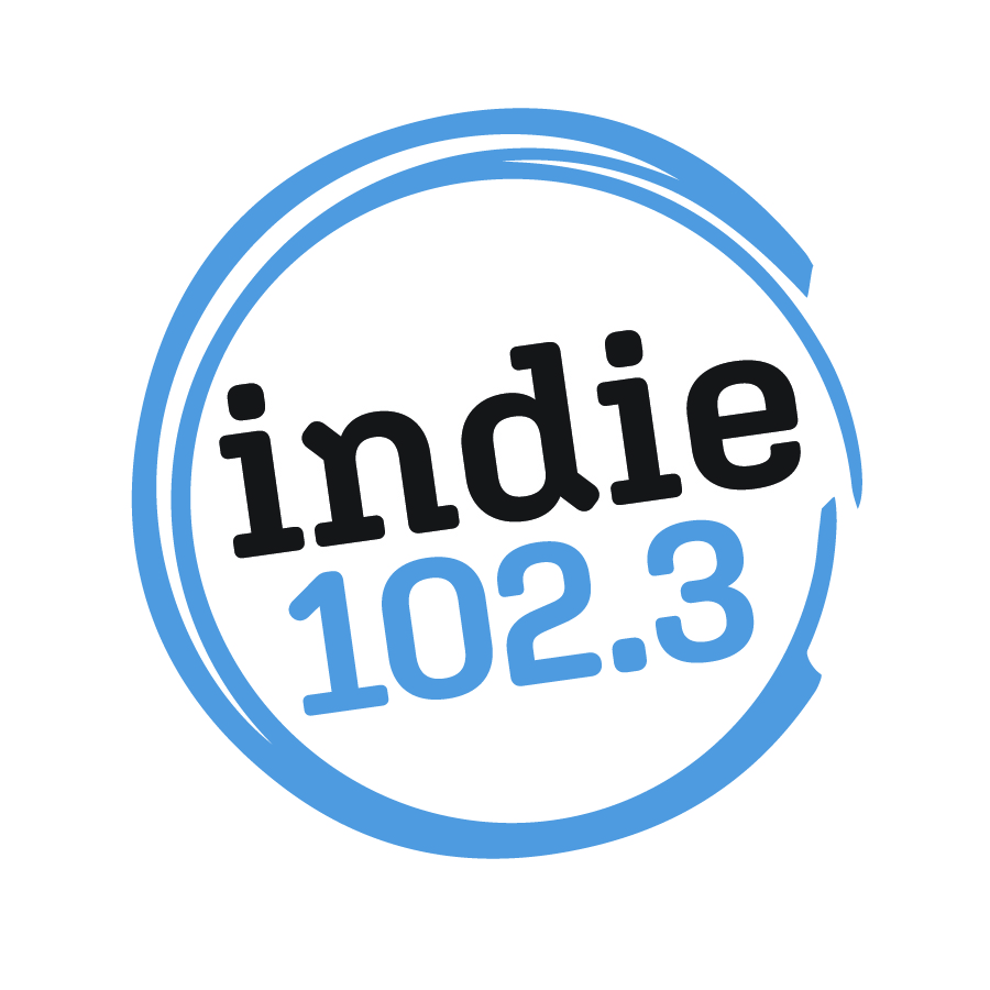 Indie 102.3 Logo Stacked