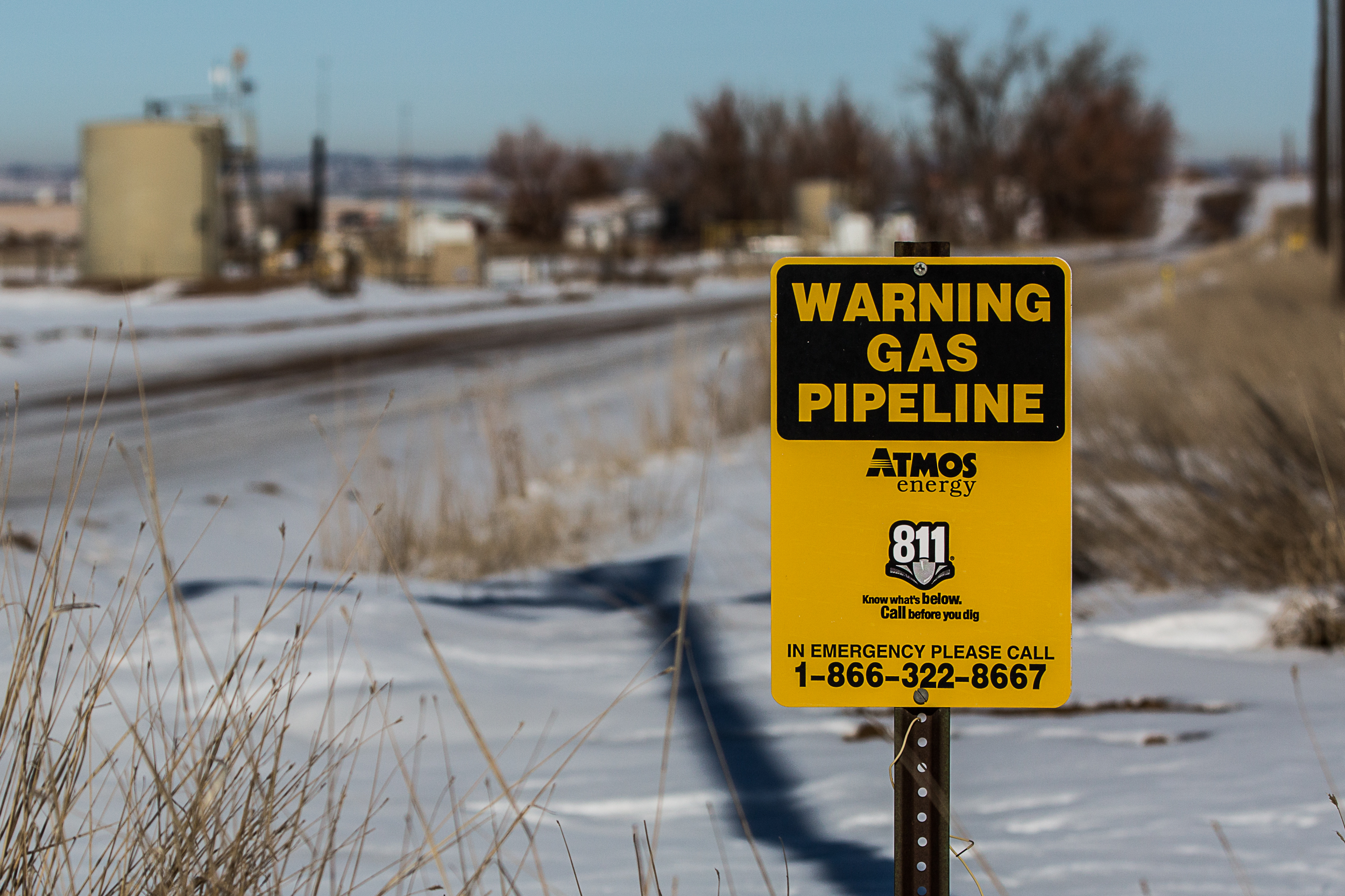 Natural gas pipeline warning signs in Weld County November 2019.