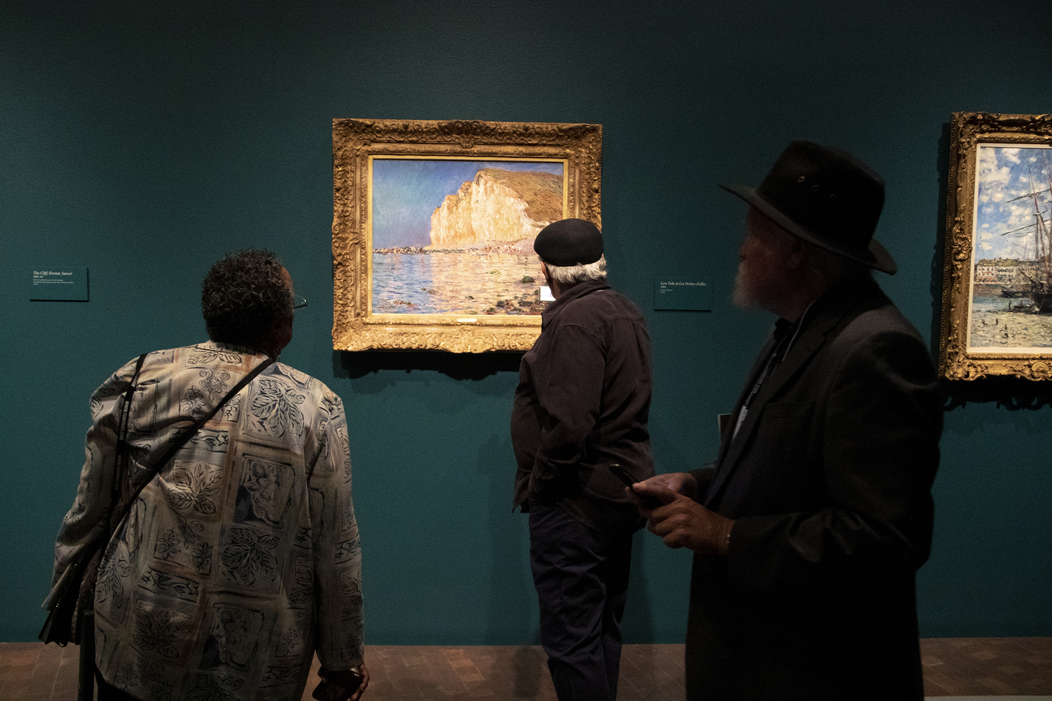 """""""Low Tide at Les Petit Dalles"""" on display in the Denver Art Museum's """"Claude Monet: The Truth of Nature"""" exhibit Oct. 17, 2019."""