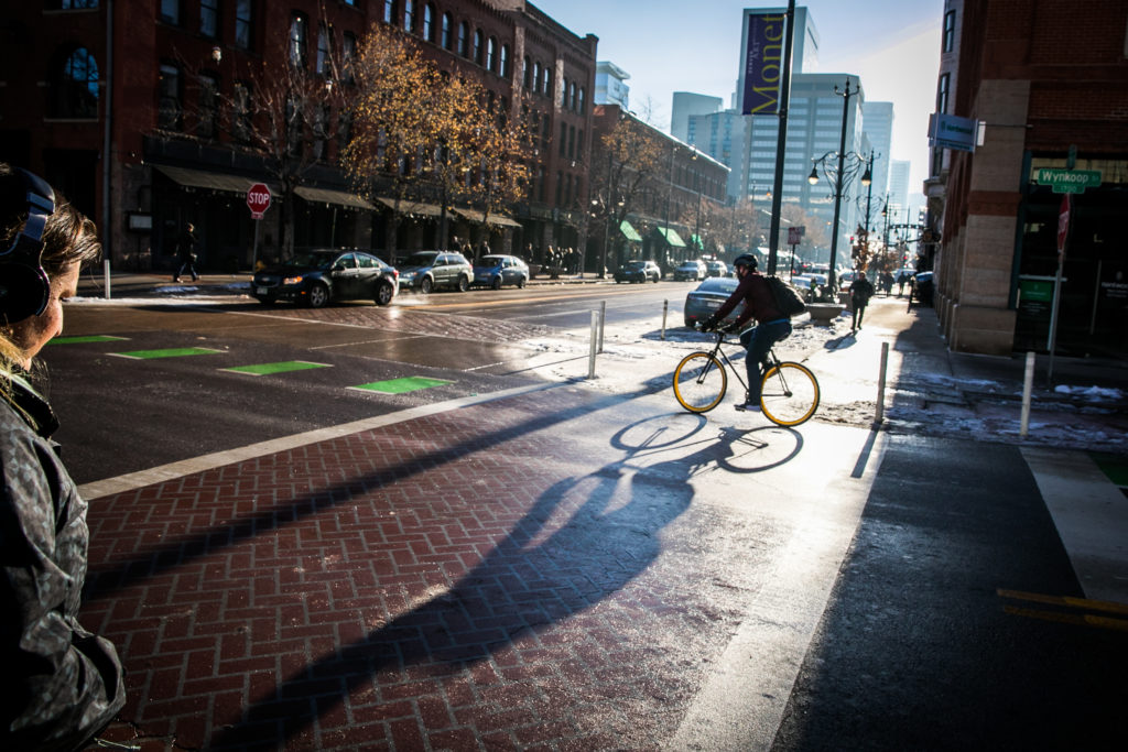 Denver Street Scenes Bikes Scooters