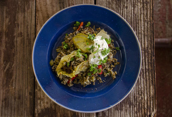 Halupkis are an eastern European cabbage roll. Hunter Tom Healy makes his with wild-harvested rice and elk.