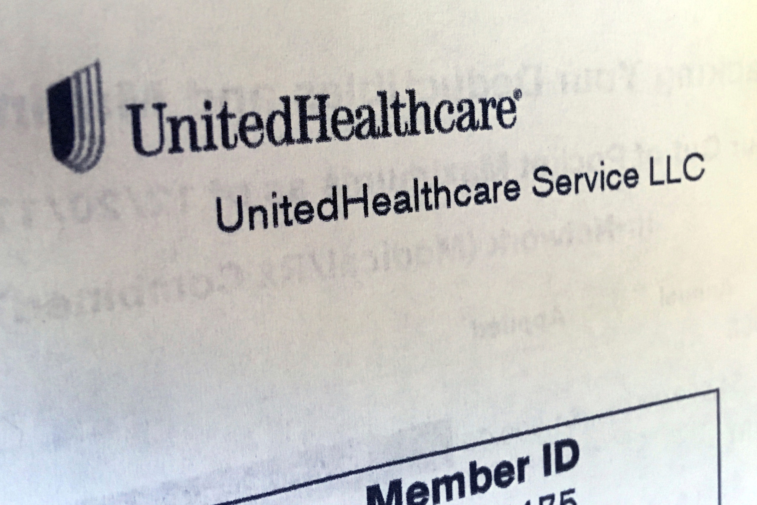 In this June 15, 2018 photo, United Healthcare correspondence is seen in North Andover, Mass. UnitedHealth Group reports earnings Tuesday, July 17, 2018.