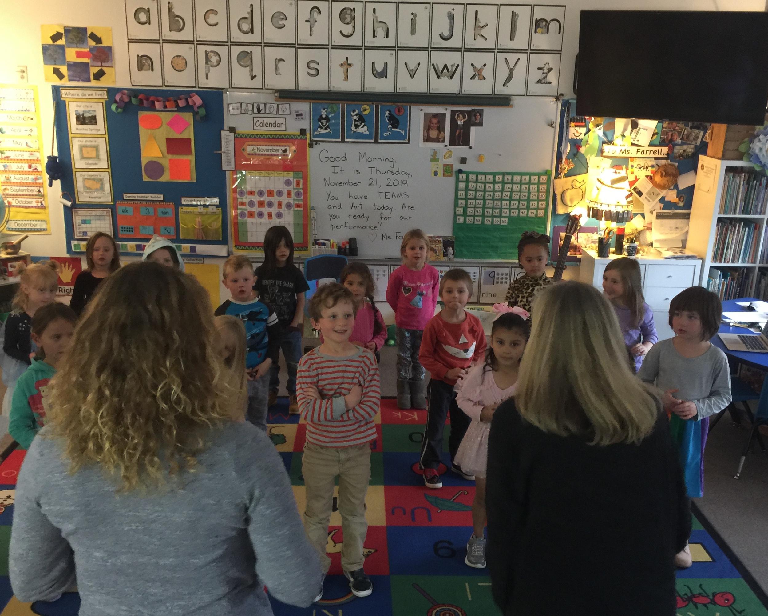 Ms Farrells kindergarten class Manitou Elementary