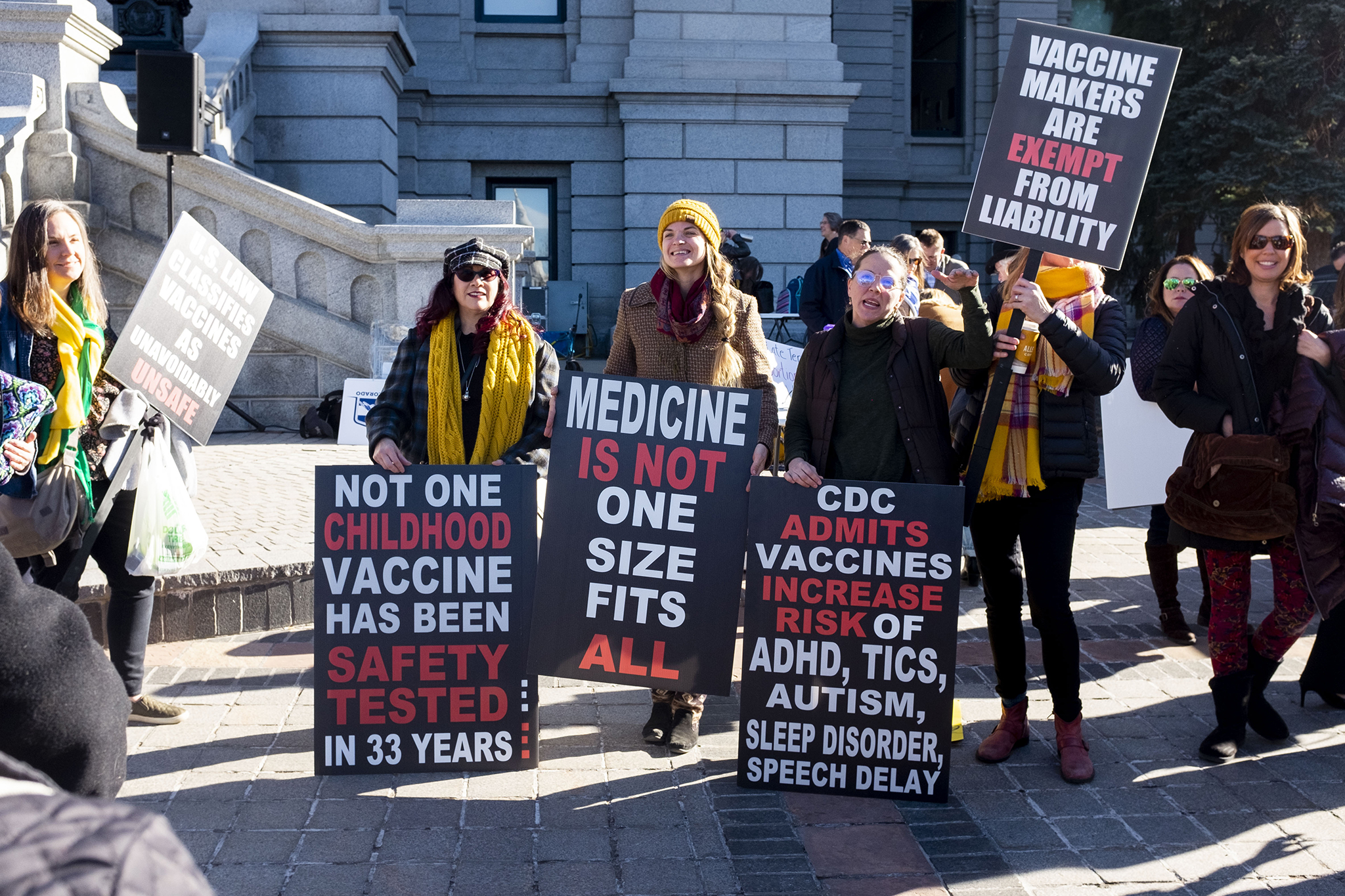 A rally outside the Capitol on the first day of the 2020 legislative session. Jan. 8, 2020.