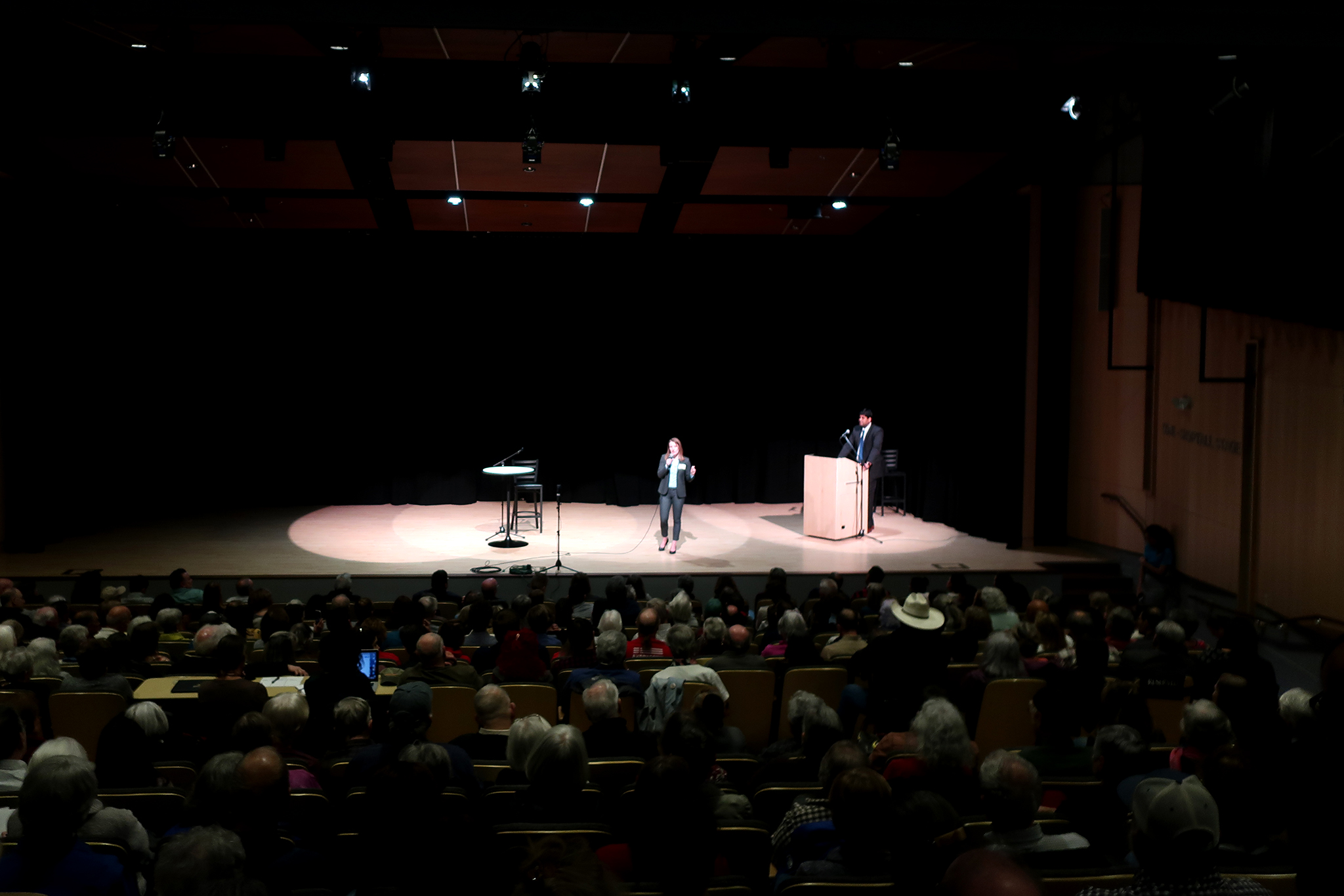 Democratic Senate candidate Trish Zornio speaks at a community forum in Longmont, Sunday January 26, 2020.