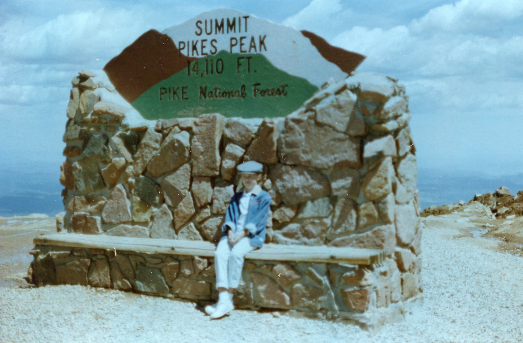 PK Knickerbocker at the summit of Pikes Peak as a child.