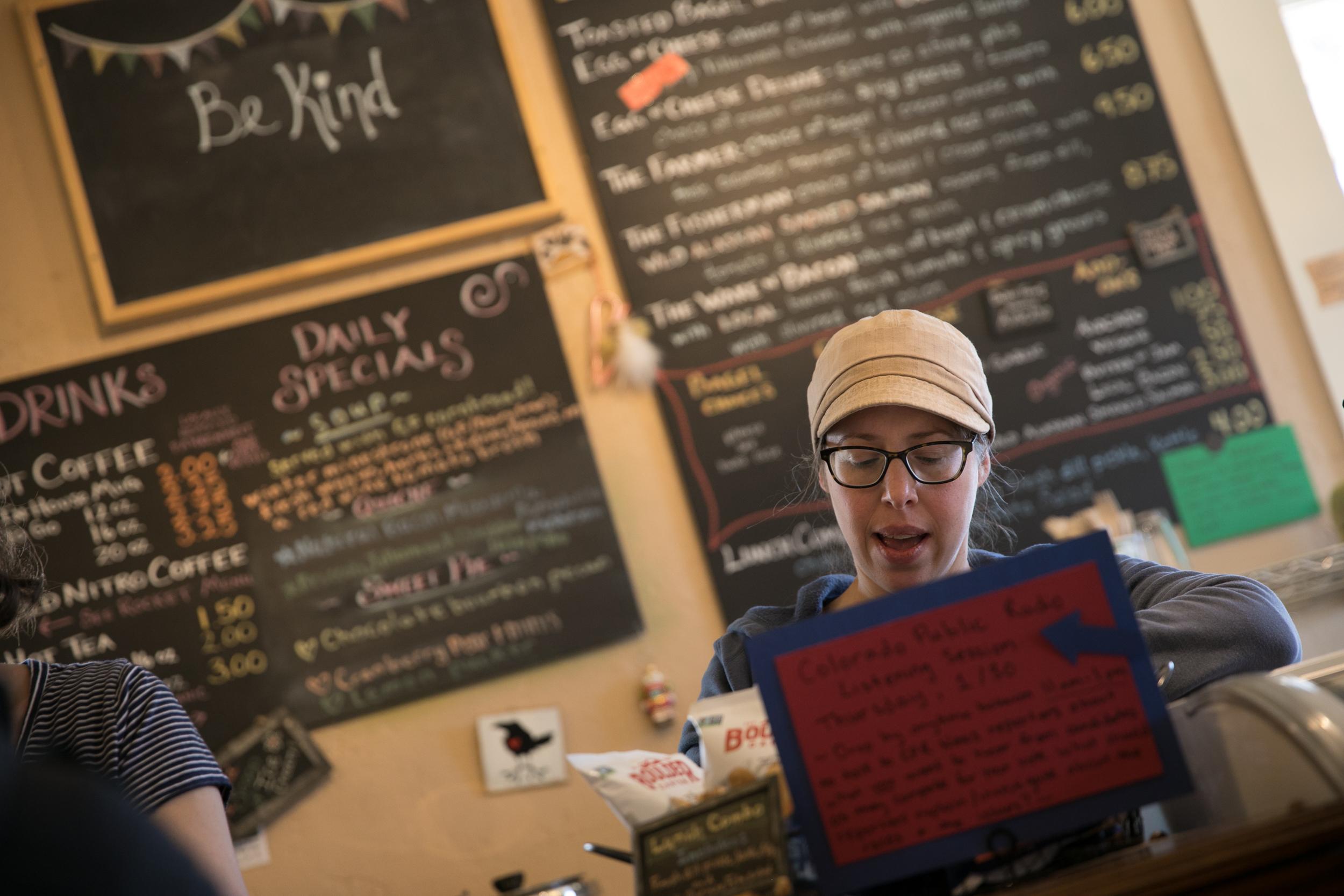 Voter Voices Cortez At The Pie Maker