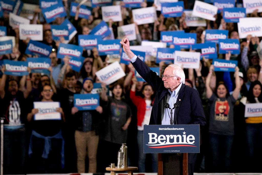 Bernie Sanders Campaigns In Denver 1