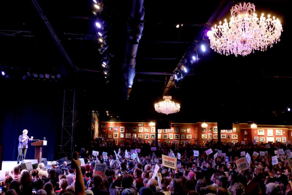Elizabeth Warren Campaigns In Denver