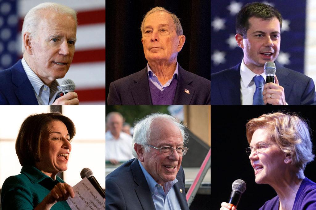 Six Democrats Running For President Biden Bloomberg Buttigieg Kl