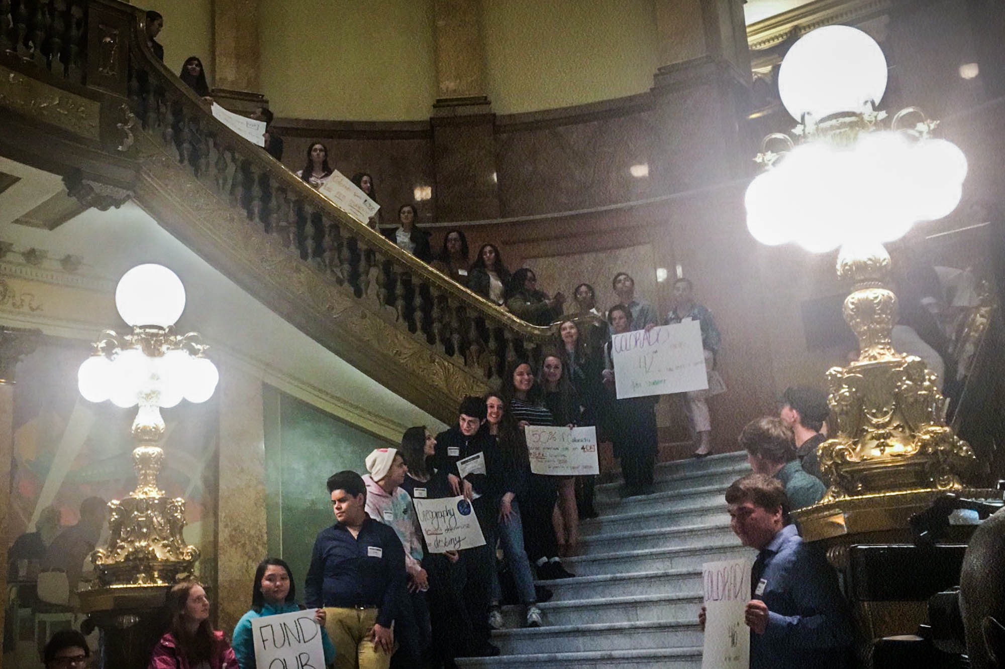 Over 100 students across the state came to the state Capitol on February 20, 2020 for Lobby Day. They are advocating for school finance reform.