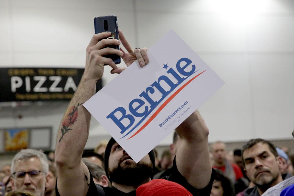 Sanders Campaigns In Denver