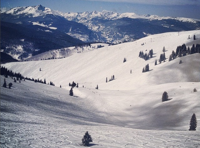 The back bowls at Vail Ski Resort.