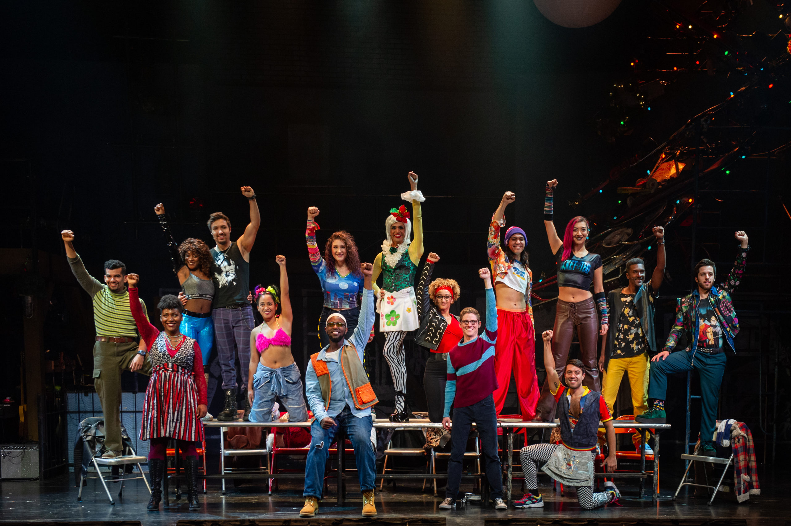The Company of the RENT 20th Anniversary Tour.