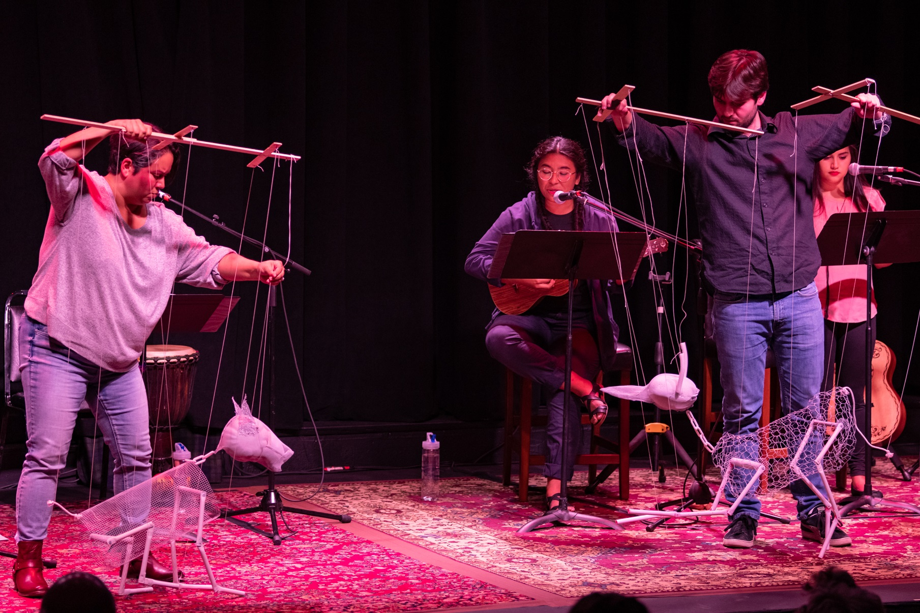 "Puppeteers perform ""Refuge,"" a bilingual play that was developed with Curious Theater Company, at the Colorado New Play Festival."