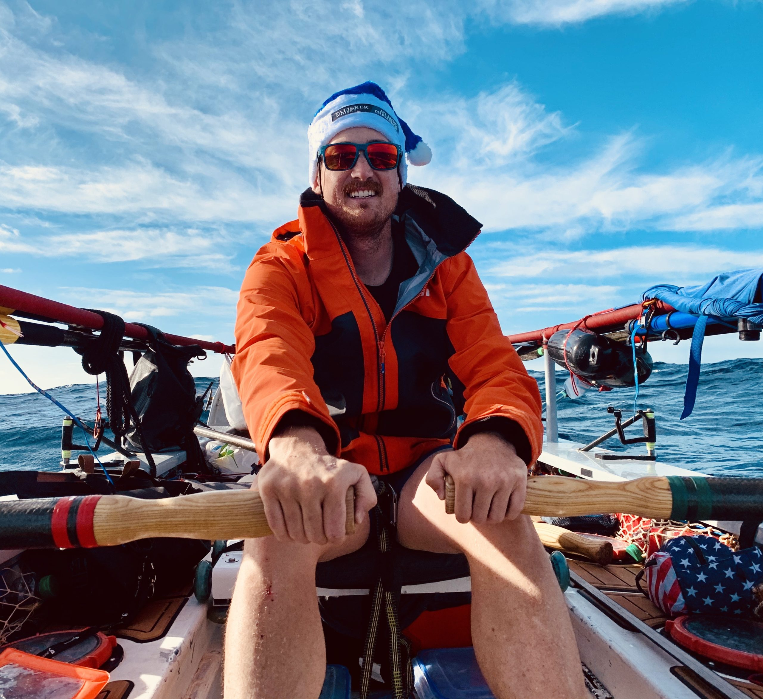 """Denver native Evan Stratton and other veterans raced across the Atlantic Ocean, in a rowboat, to raise awareness of mental health issues. The team was called """"Fight Oar Die."""""""