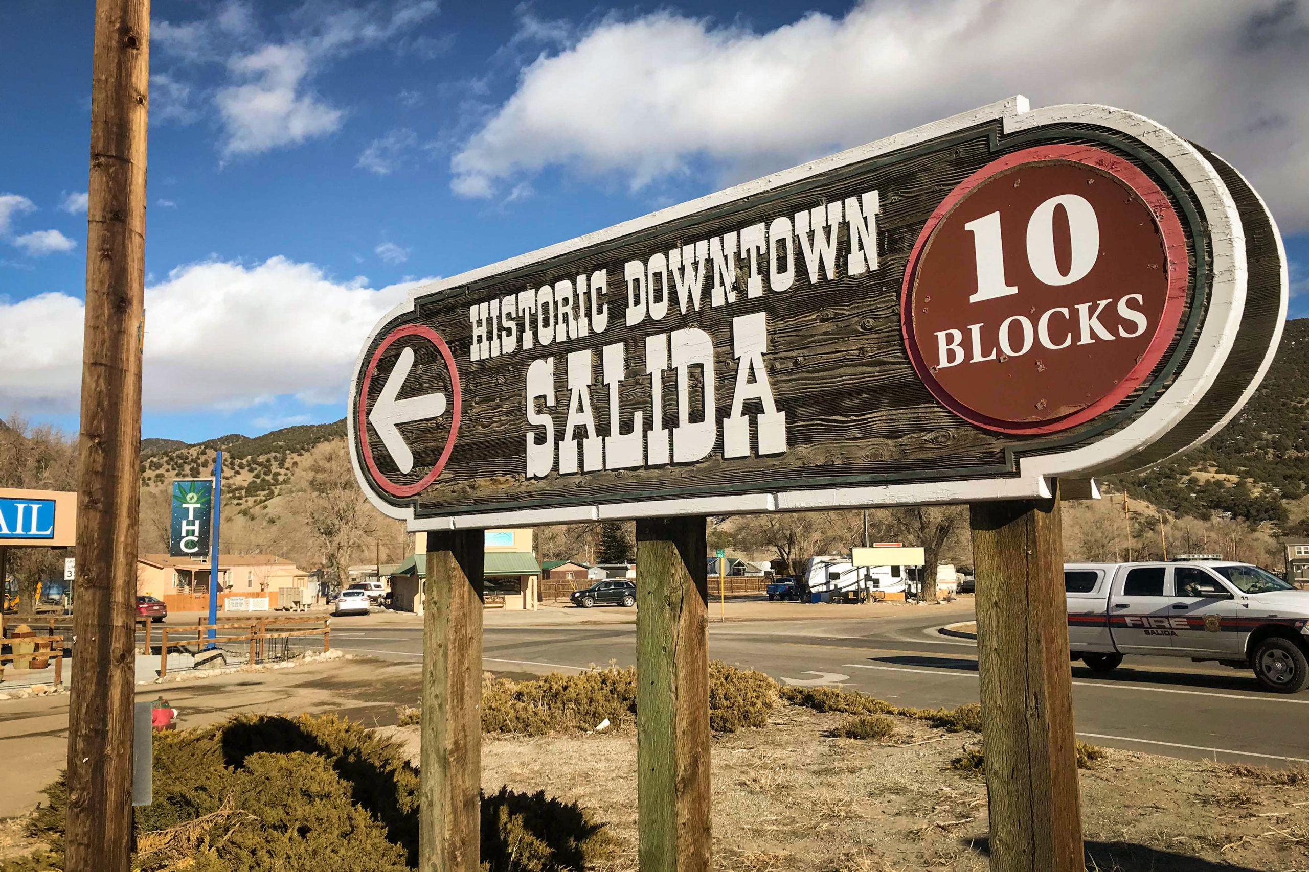 Looking for downtown Salida, Colo? This sign points the way.
