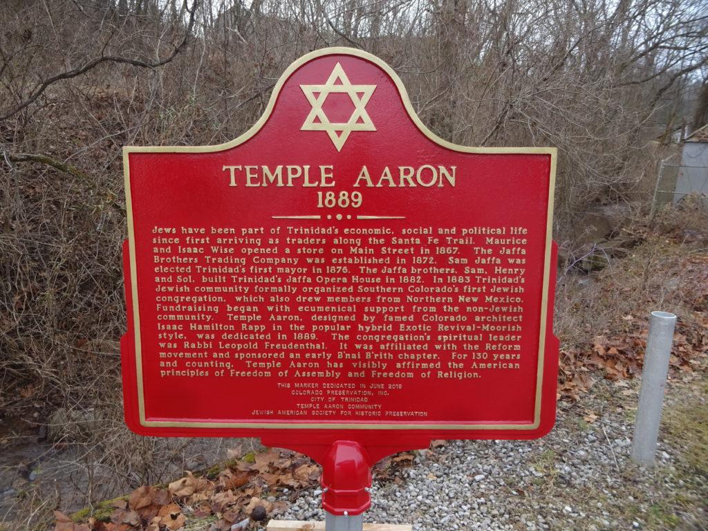 Temple Aaron Dedication Plaque