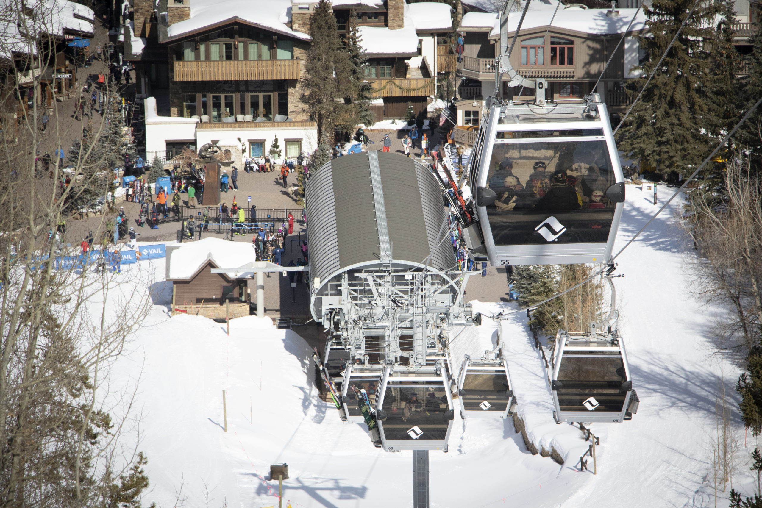 Gondola One ferried skiers and snowboarders up Vail Mountain on Saturday, Feb. 15, 2020.