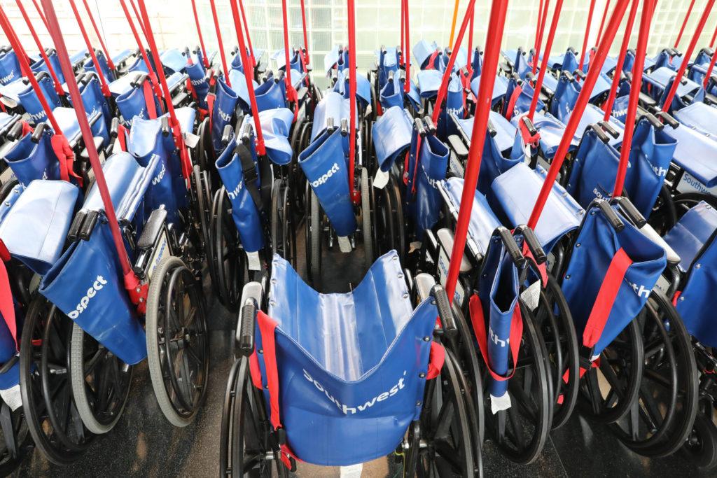 Unused Wheelchairs At DIA
