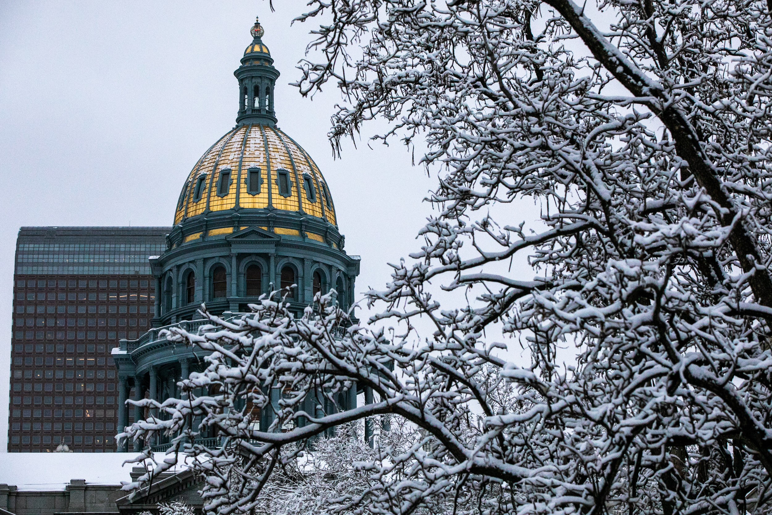 The Colorado state Capitol, March 20, 2020
