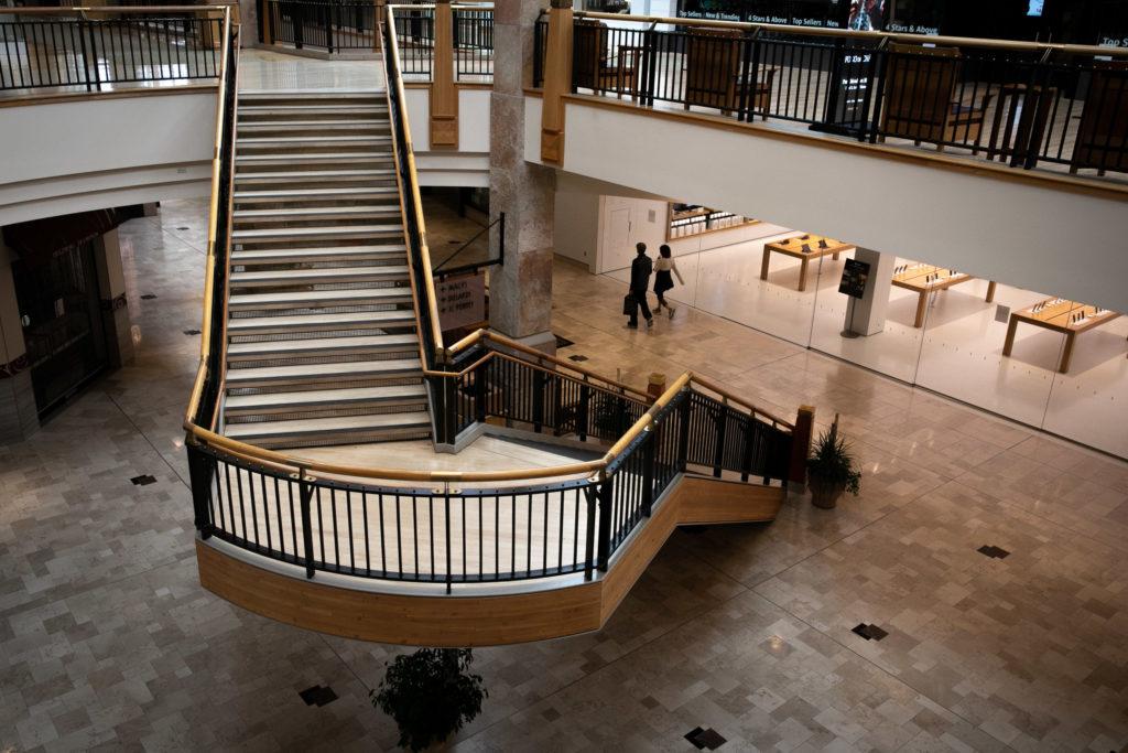 Coronavirus Town Center mall in Aurora was still open