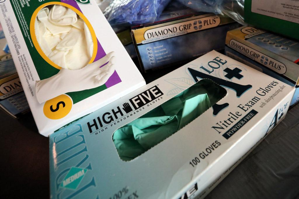 Coronavirus Masks Gloves Donated At CU Anschutz