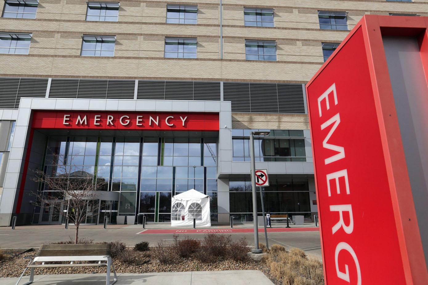 National Jewish Health/St. Joseph's Hospital ER entrance in Denver