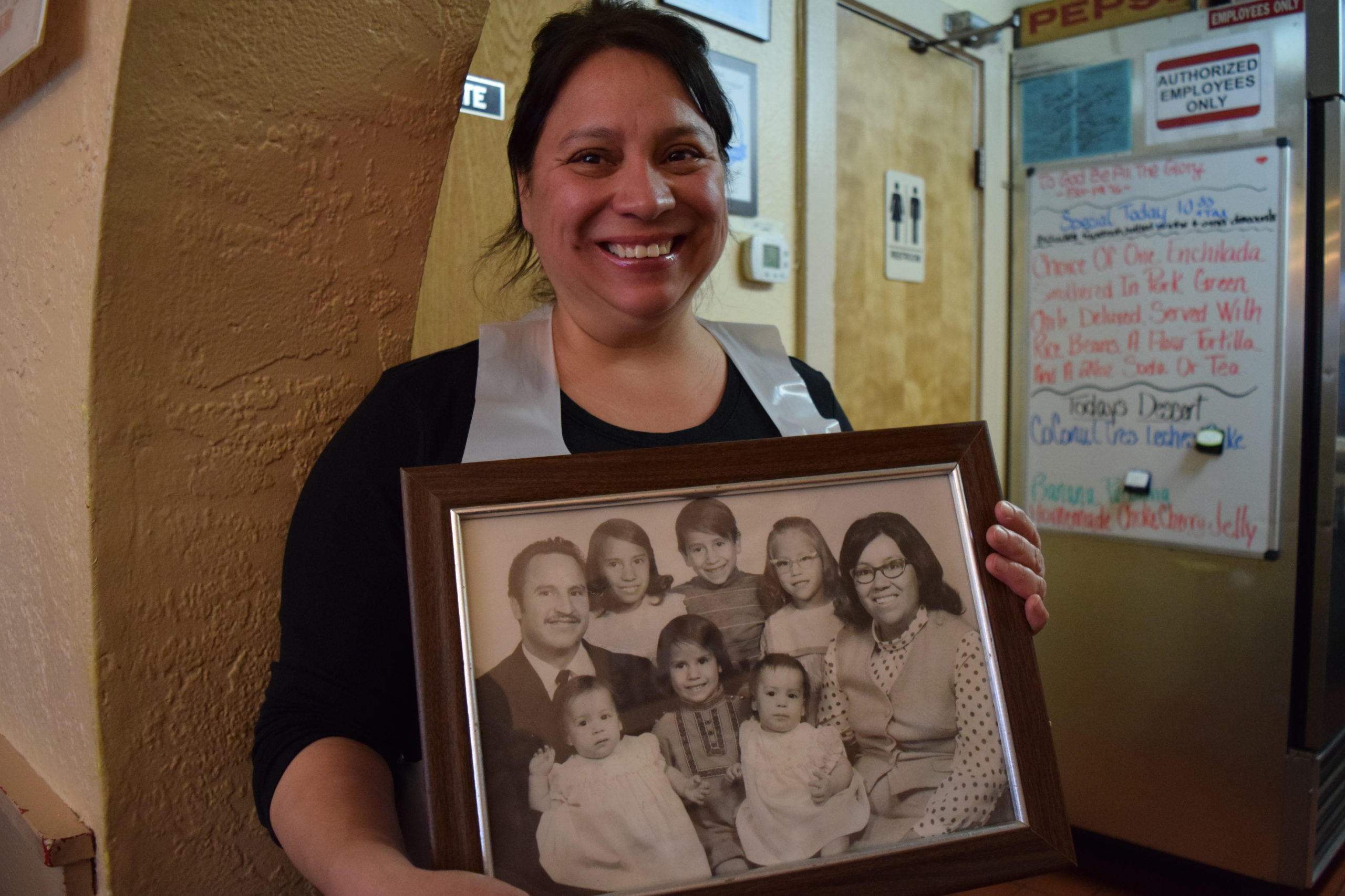 Judy Allen runs El Taco Rey in Colorado Springs with her sisters now. But her parents, Eddie and Rosemary Aguilar started the restaurant with their six kids in 1976.