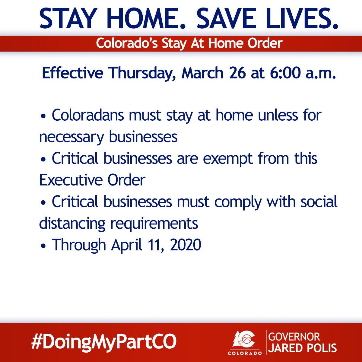 Coronavirus In Co March 26 Updates Stay At Home Order Statewide And More Colorado Public Radio
