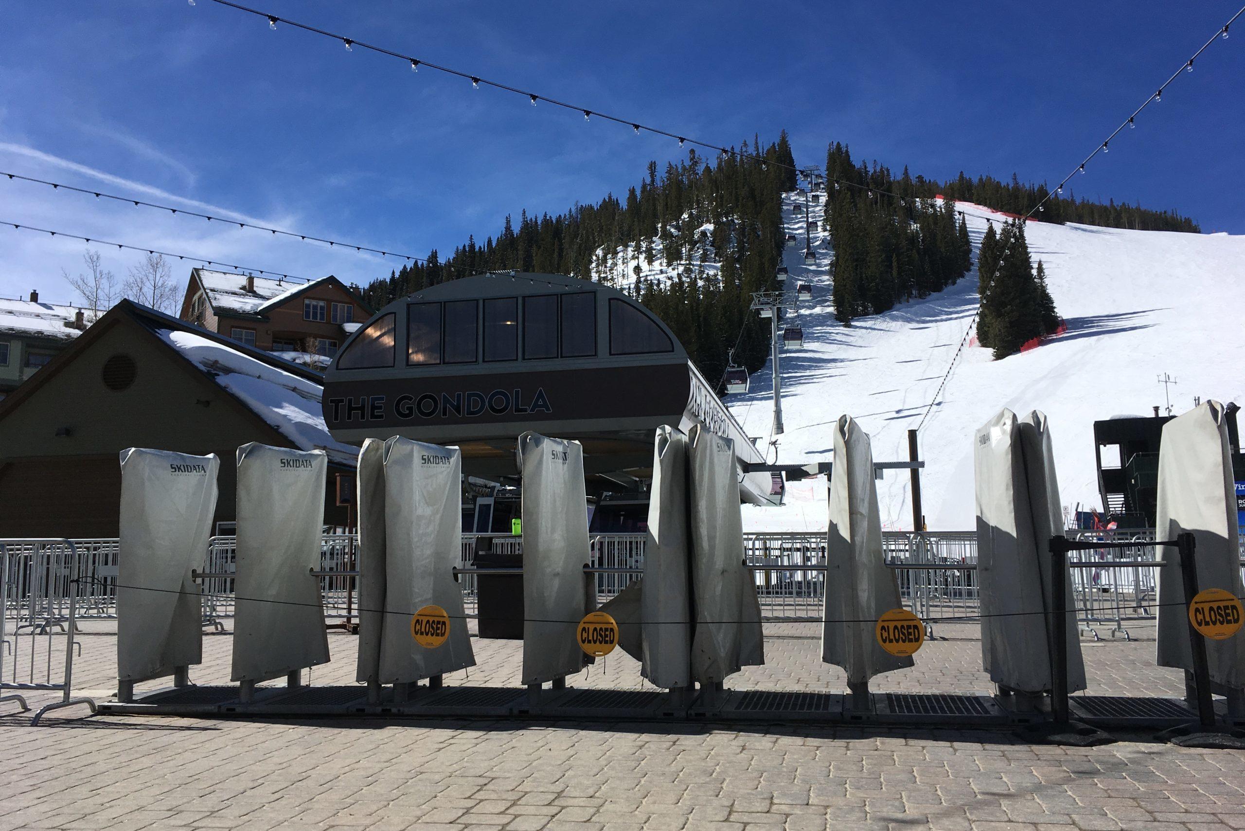 Winter Park's gondola was closed to the public, March 15, 2020.