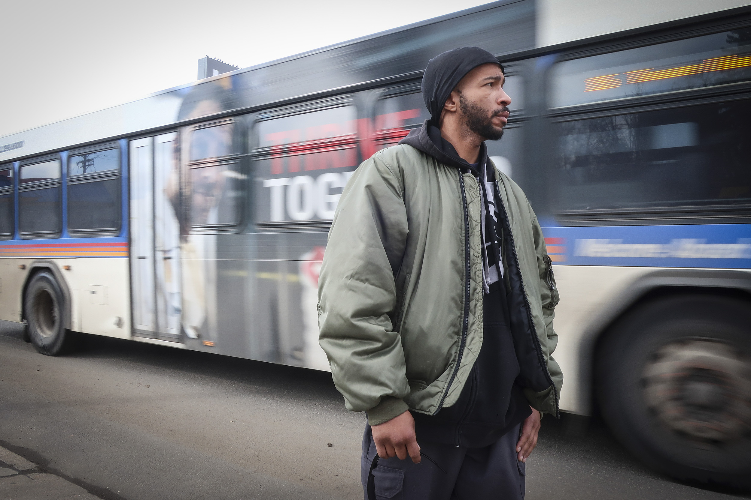 Kevin Beasley said he's been homeless off an on for about two years, and has used passes from the St. Francis Center to ride RTD's buses and trains. Those are increasingly hard to come by, he said.