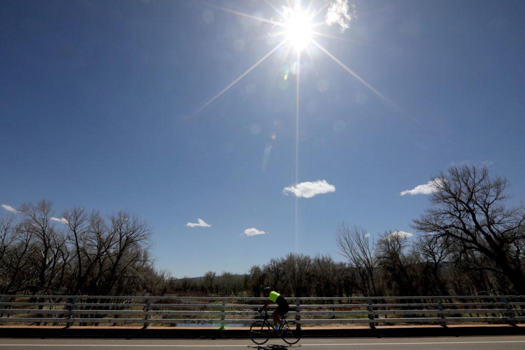Chatfield State Park bike rider.