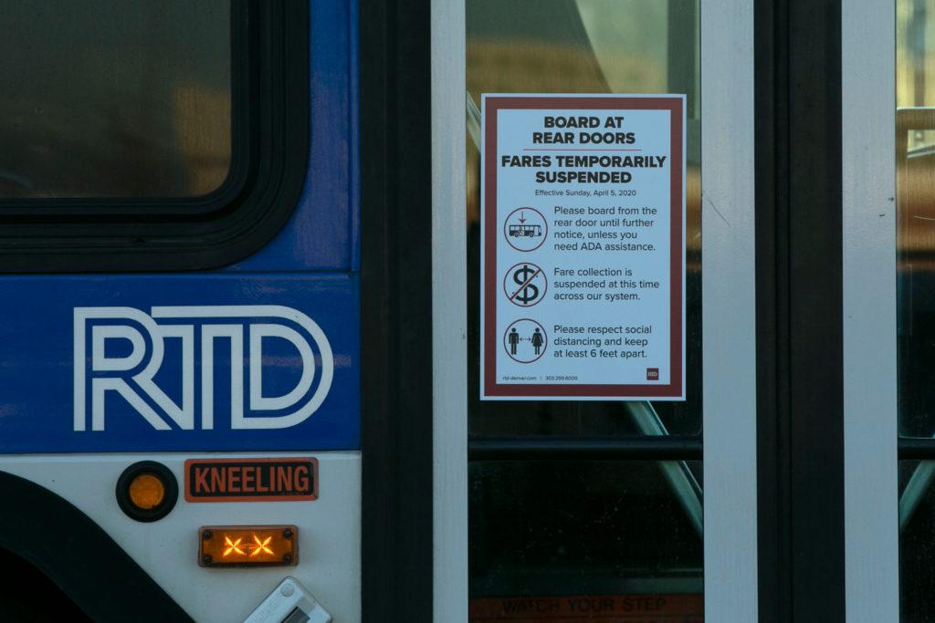 RTD Buses Trains Central Park Station Coronavirus