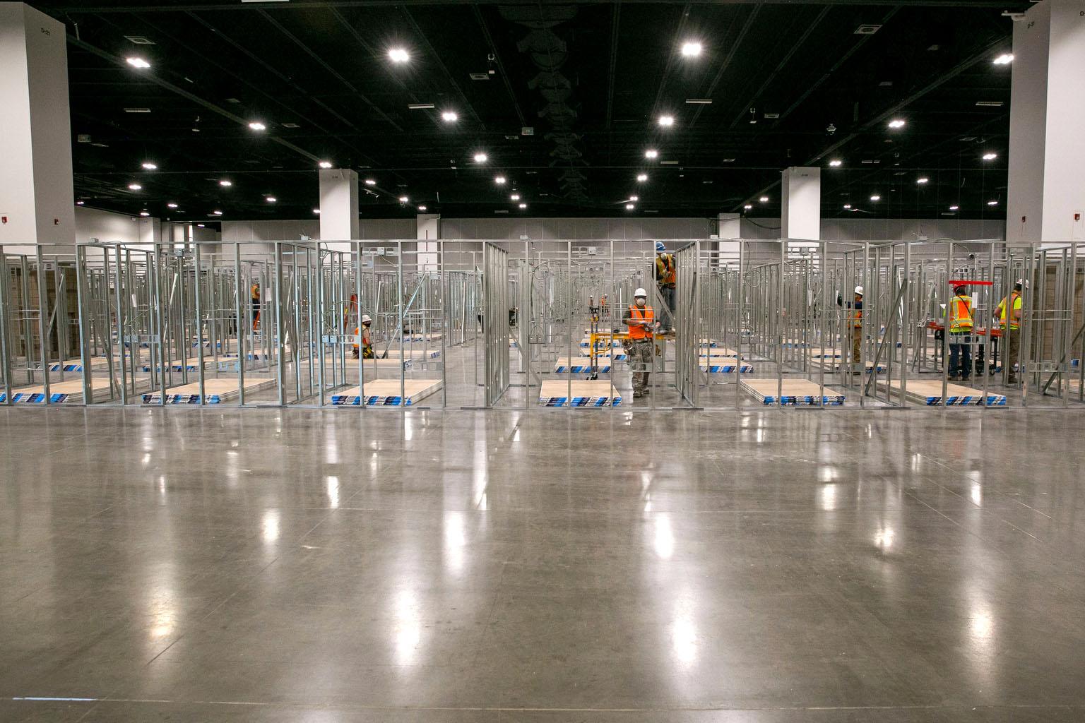 Jared Polis Colorado Convention Center COVIS-19 Pop Up Treatment