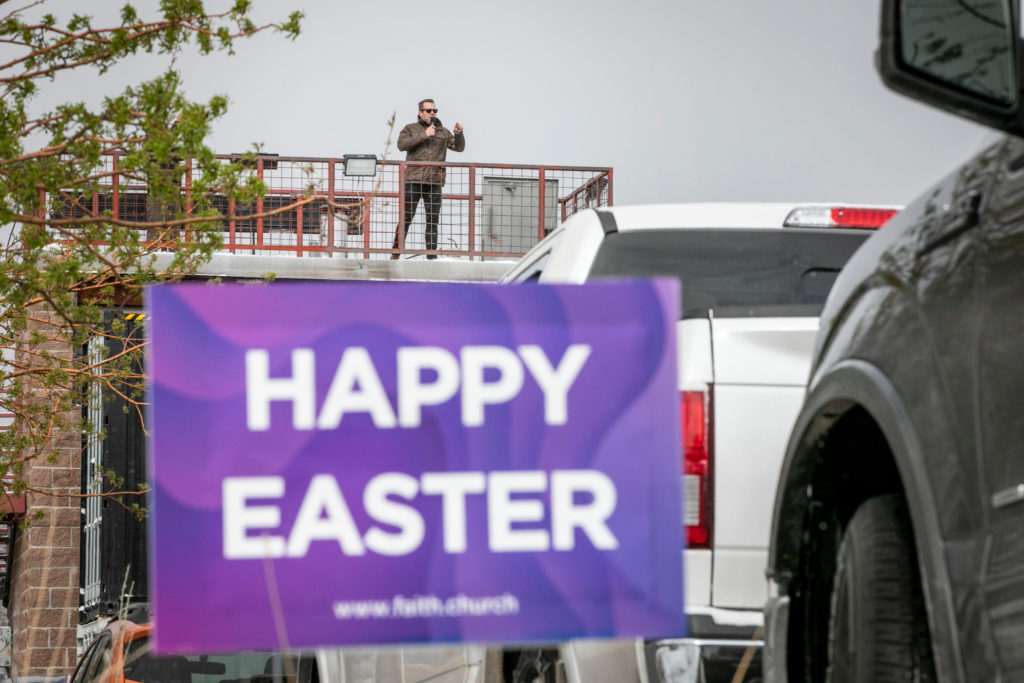 Drive In Easter Service At Faith Bible Chapel In Arvada