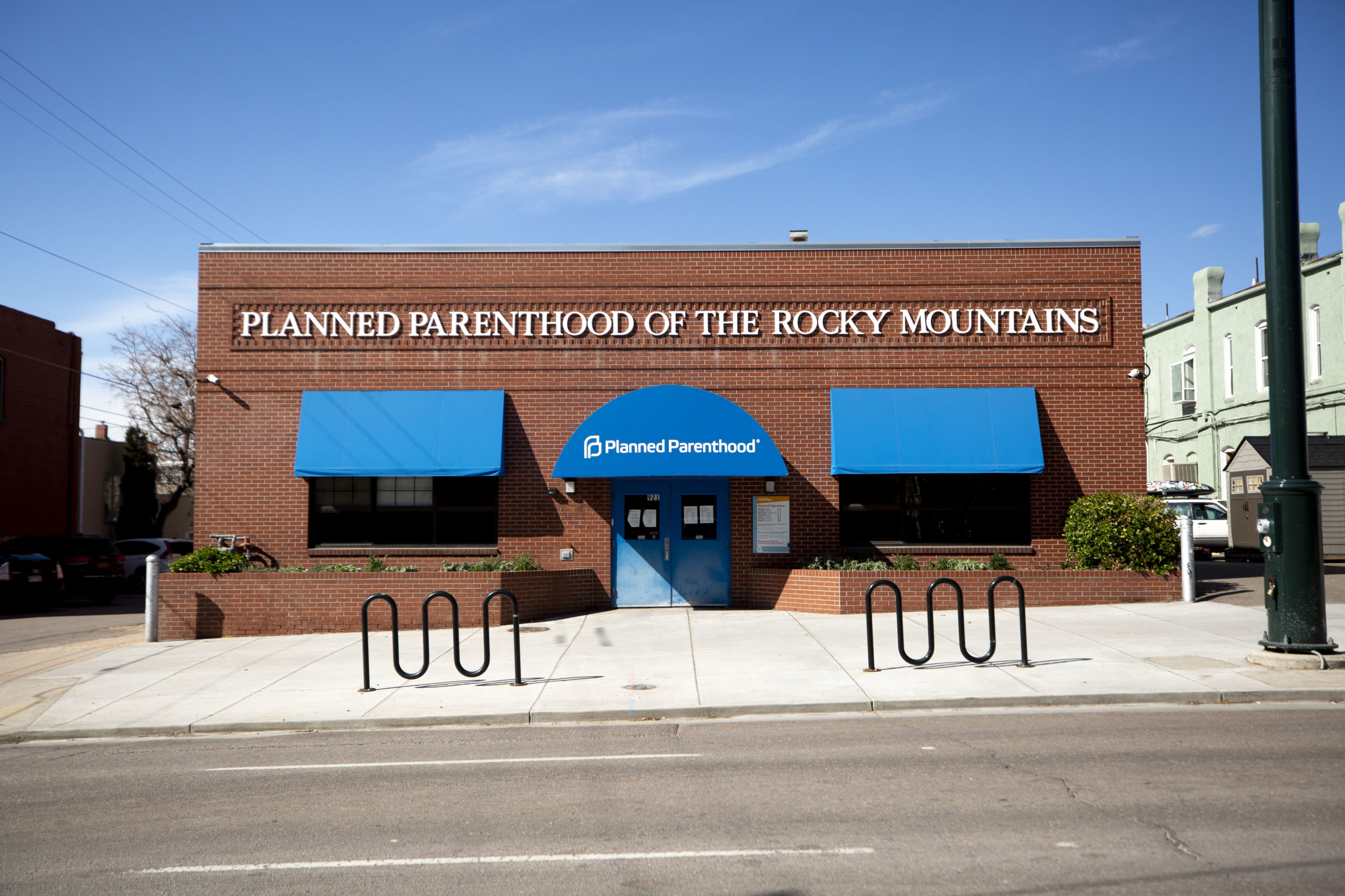 Planned Parenthood of the Rockies on 14th Avenue in Capitol Hill. April 14, 2020.