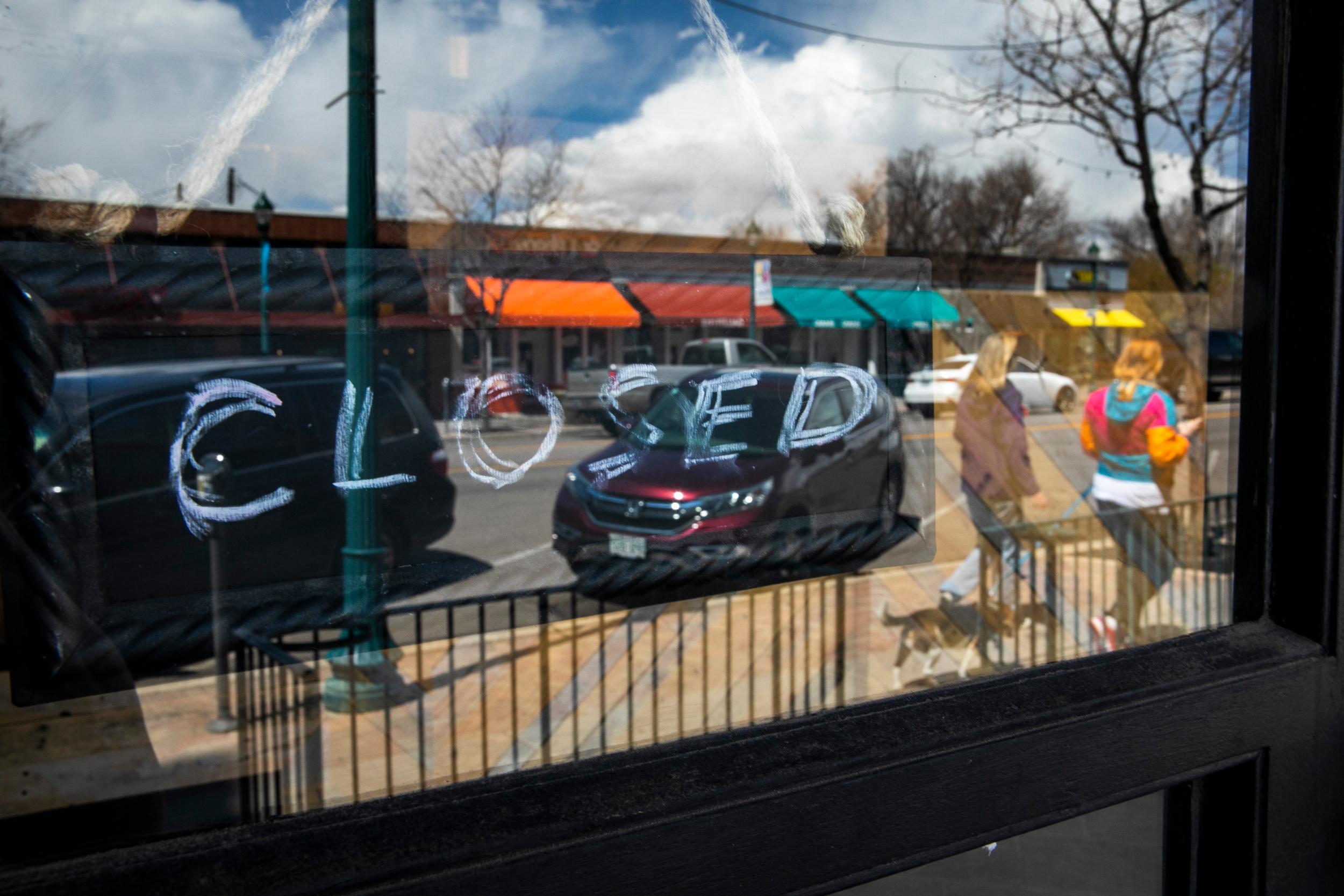 Closed Signs In Colorado Springs During Coronavirus