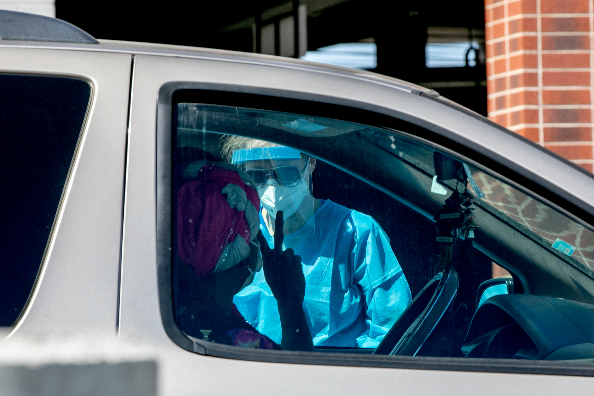Drive-Through Coroinavirus Testing Auraria Canpus