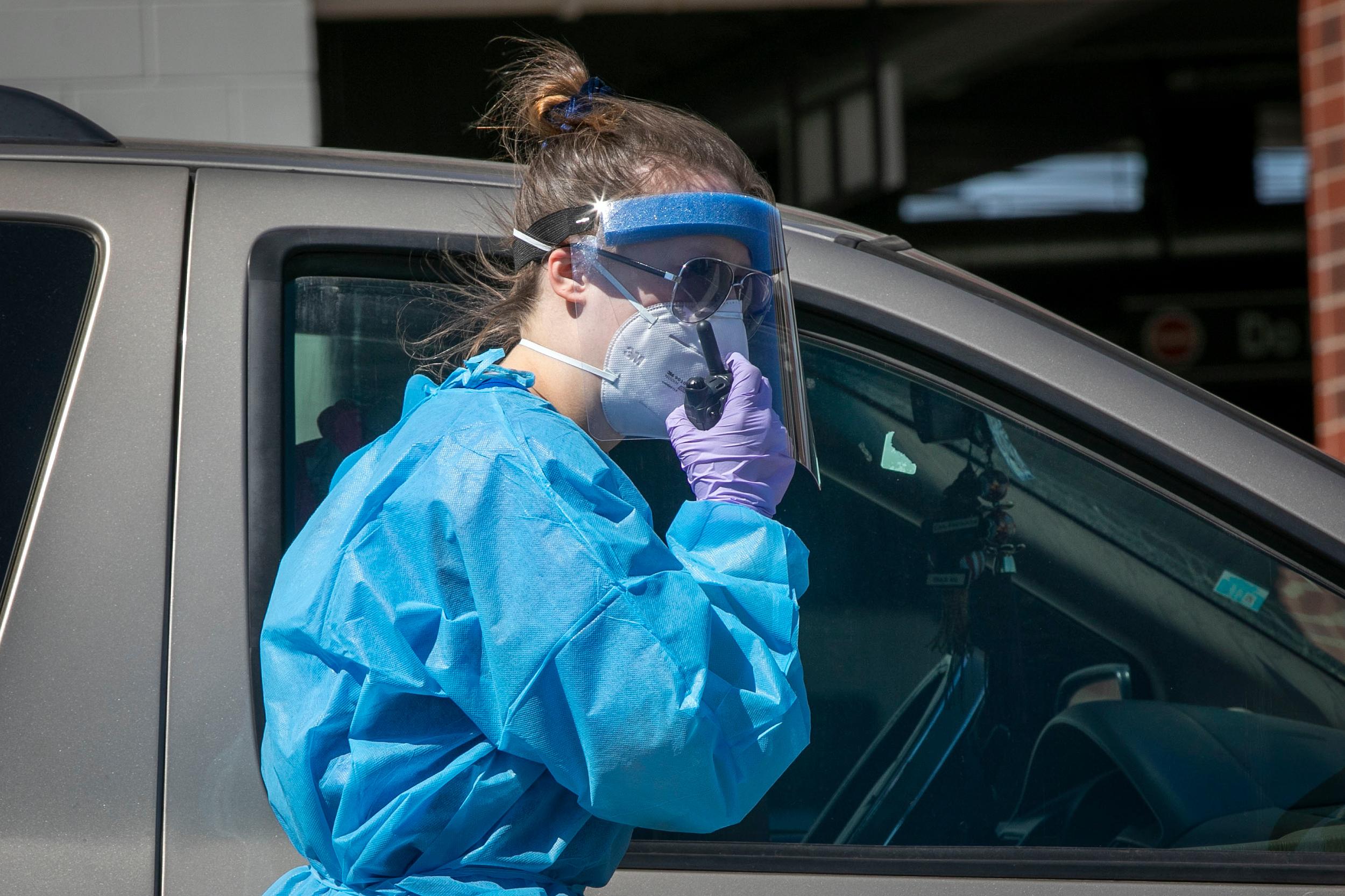Drive-Through Coroinavirus Testing Auraria Canpus